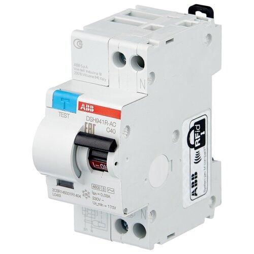 Дифференциальный автомат ABB DSH941R 2П 30 мА C 40 А автомат abb bms412c63