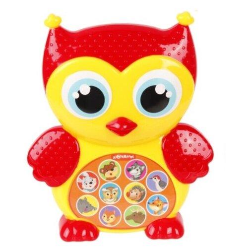Купить Интерактивная развивающая игрушка Азбукварик Зверята-малышата. Совушка желтый/красный, Развивающие игрушки