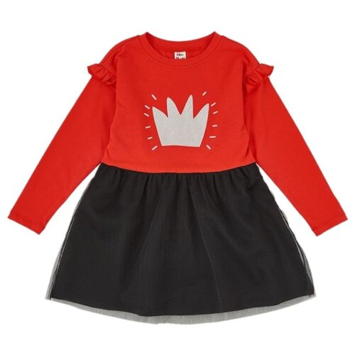 Платье Mini Maxi размер 110, красный/черный платье oodji ultra цвет красный белый 14001071 13 46148 4512s размер xs 42 170