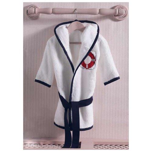 Халат Kidboo размер 3(98), белый/синий