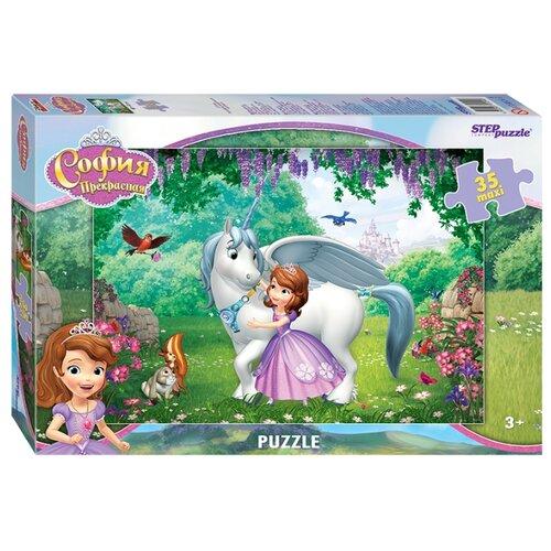 Пазл Step puzzle Disney Принцесса София (91240), 35 дет. детский музыкальный инструмент disney микрофон софия прекрасная принцесса 2698575