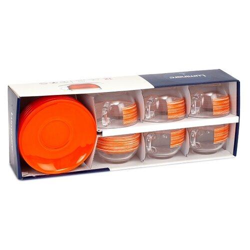 Чайный сервиз Luminarc Brush Mania, 6 персон orange