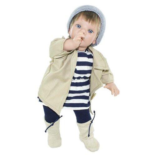 Кукла Lamagik Пальчик во рту мальчик в бежевой куртке и сапожках, 38 см, 12020 фигура ангел пальчик во рту белый 8х9х15см 3865133