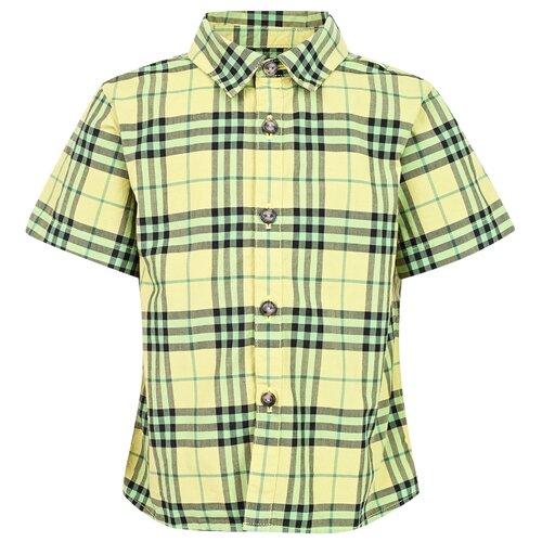 цена Рубашка Burberry размер 92, желтый онлайн в 2017 году