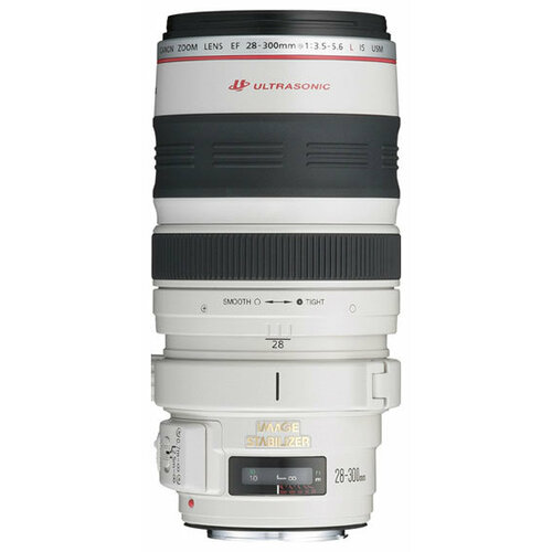 Объектив Canon EF 28-300mm f/3.5-5.6L IS USM белый