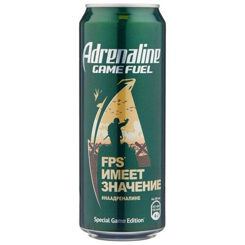 Энергетический напиток Adrenaline Game Fuel лайм-имбирь, 0.449 л