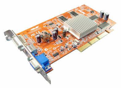 Видеокарта ASUS Radeon 9250 240Mhz AGP 256Mb 400Mhz 128 bit DVI TV