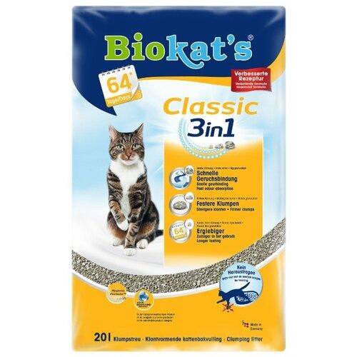 Комкующийся наполнитель Biokat's Classic 3in1 20 л
