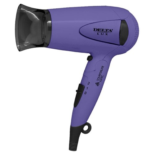 Фен DELTA LUX DL-0936 фиолетовый/черный блендер delta lux dl 7313
