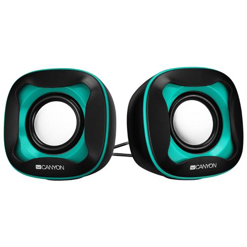 Компьютерная акустика Canyon Wired USB 2.0 Computer Speakers черный / зеленый