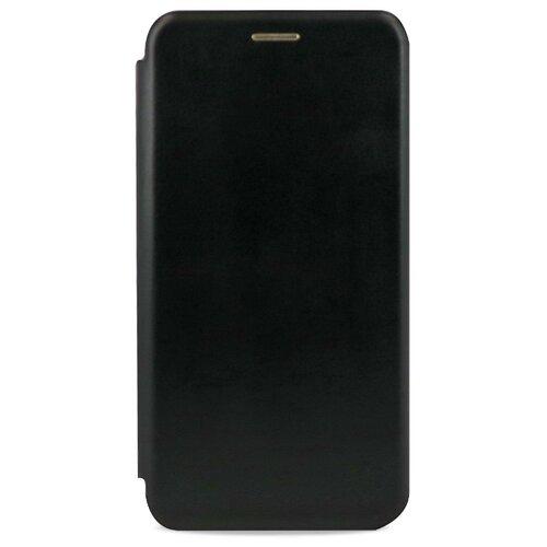 Кожаный чехол для Xiaomi Mi 9 / Чехол Книжка на Сяоми Ми 9 с кармашком для карт (Черный)