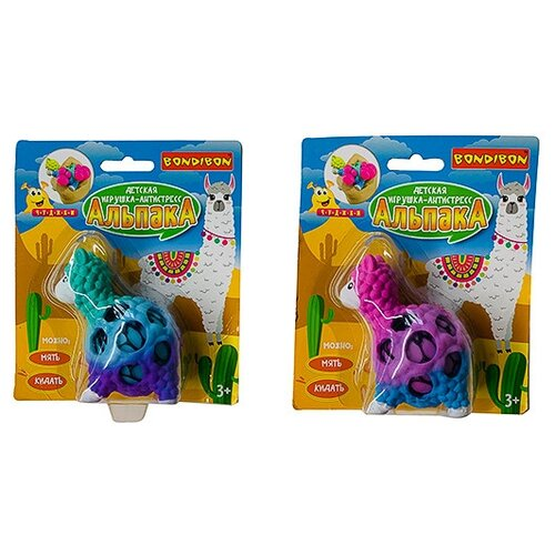Купить Игрушка-мялка BONDIBON Чудики. Альпака, Игрушки-антистресс