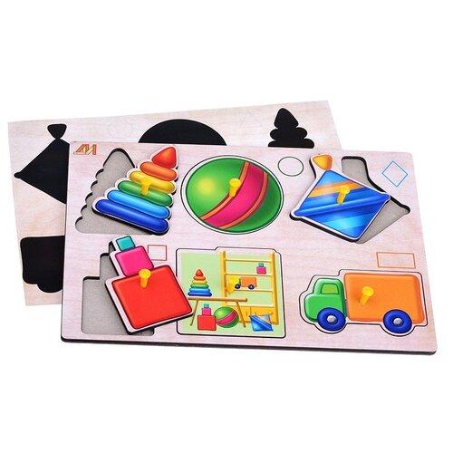 Пазл Деревянные игрушки Игрушки (вкладыши) (ДИ101)