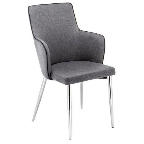 Стул Woodville Benza, металл/текстиль, цвет: серый стул woodville dodo металл текстиль цвет синий