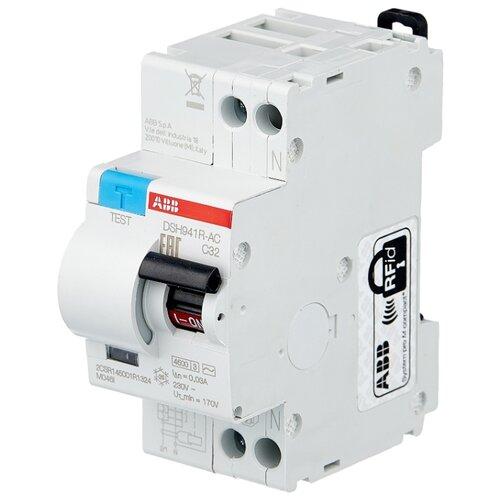 Дифференциальный автомат ABB DSH941R 2П 30 мА C 32 А автомат abb 2cds273001r0324