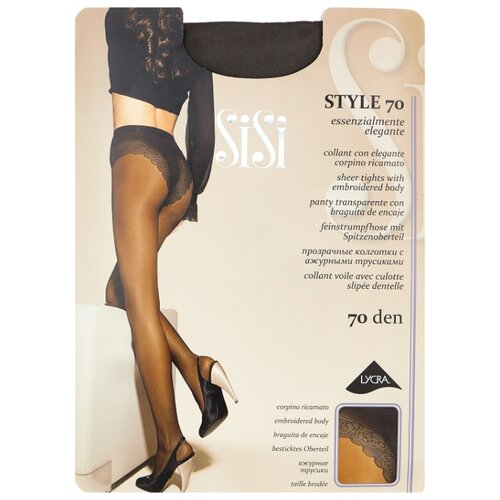 Колготки Sisi Style 70 den, размер 4-L, grafite (серый) колготки sisi miss 40 den размер 4 l grafite серый
