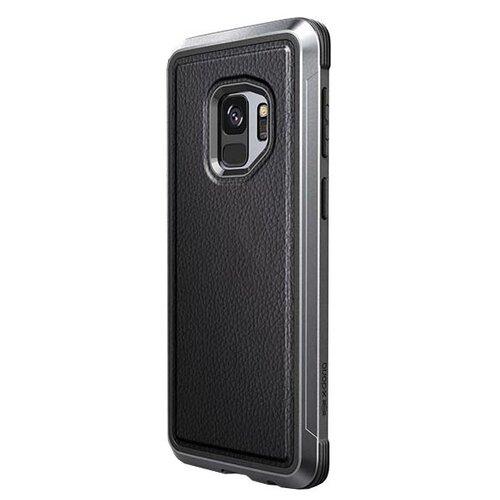 Чехол-накладка X-Doria Defense Lux для Samsung Galaxy S9 черная кожа