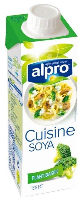 Сливки alpro растительные соевые 15%, 250 мл