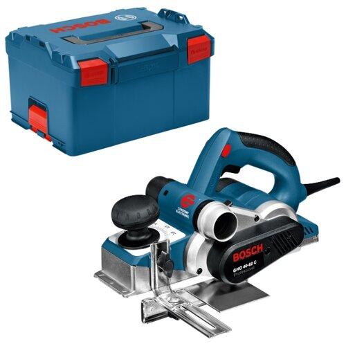 Электрорубанок BOSCH GHO 40-82 C Professional L-Boxx синий