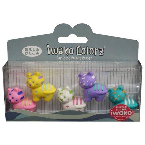 IWAKO Набор ластиков Colorz Tiger ассортиЛастики<br>