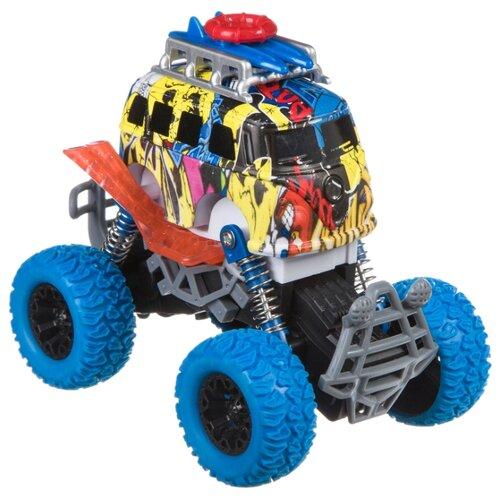 Купить Монстр-трак BONDIBON Парк техники (ВВ4500) желтый/синий, Машинки и техника