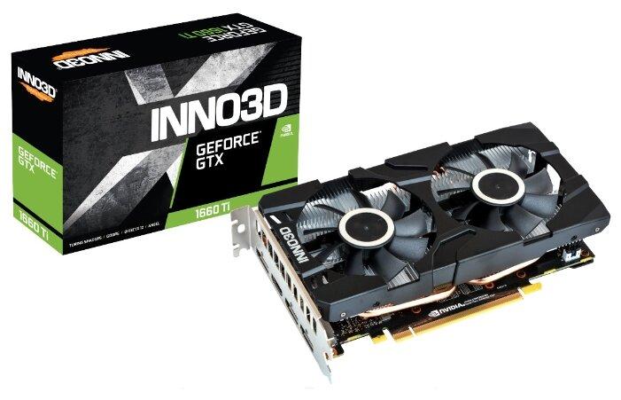 Видеокарта Inno3D GeForce GTX 1660 Ti 1770MHz PCI-E 3.0 6144MB 12000MHz 192 bit HDMI HDCP Twin X2