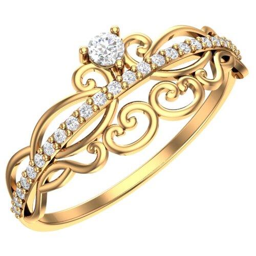POKROVSKY Золотое кольцо 0101477-00770, размер 17.5