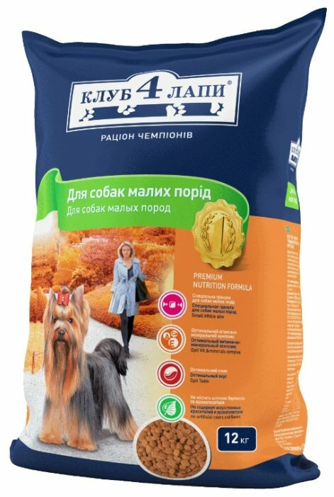 Корм для собак Клуб 4 Лапы Для собак малых пород (12 кг)