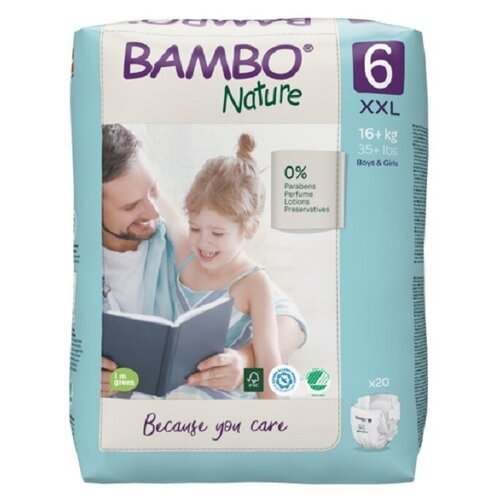 Купить BAMBO подгузники Nature 6 (16+ кг) 20 шт., Подгузники