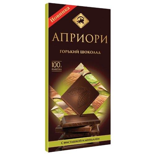 Шоколад Априори горький с фисташкой и миндалем, 100 г