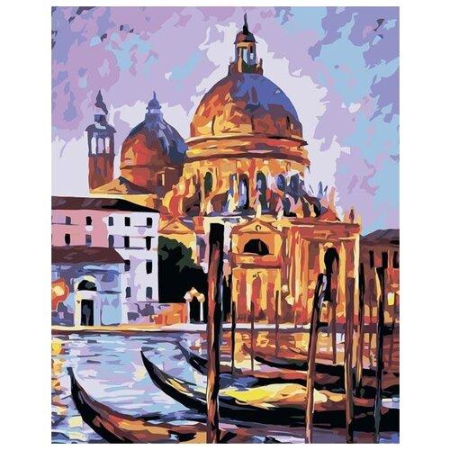 Купить Картина по номерам Живопись по Номерам Венецианский причал , 40x50 см, Живопись по номерам, Картины по номерам и контурам