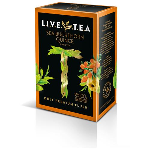 Чай черный LiveTea SEA BUCKTHORN & QUINCE с облепихой и айвой, 100 г