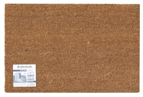 Придверный коврик Attribute Nature, размер: 0.6х0.4 м, бежевый