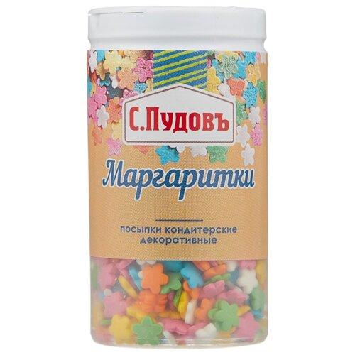 С.Пудовъ посыпки кондитерские декоративные Маргаритки 40 г разноцветные