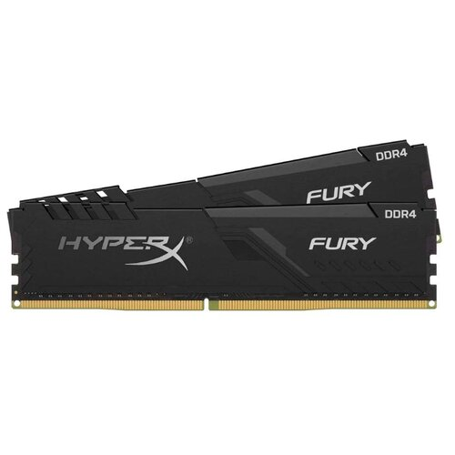 Оперативная память HyperX Fury DDR4 2666 (PC 21300) DIMM 288 pin, 8 ГБ 2 шт. 1.2 В, CL 16, HX426C16FB3K2/16 оперативная память kingston hyperx fury rgb hx426c16fb3a 16 dimm 16gb ddr4 2666mhz dimm 288 pin pc 21300 cl16