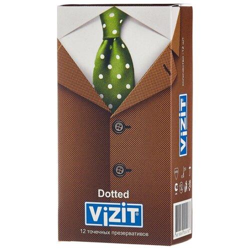 Презервативы Vizit Dotted (12 шт.) dotted self tie wide leg jumpsuit