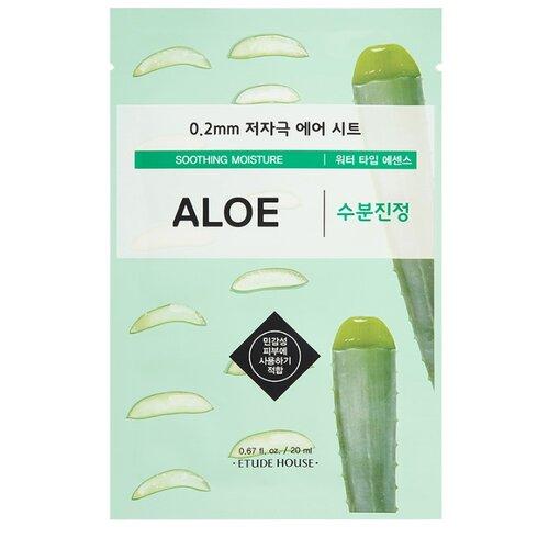 Etude House тканевая маска 0.2 Therapy Air Mask Aloe с экстрактом алоэ, 20 млМаски<br>