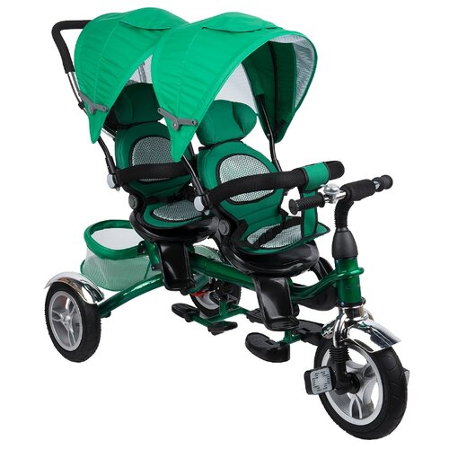 Трехколесный велосипед Capella Twin Trike 360 green самокат capella ms 06 purple green