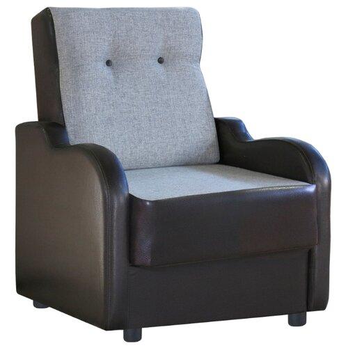 Классическое кресло Шарм-Дизайн Классика В размер: 71х93 см, обивка: комбинированная, цвет: шенилл серый