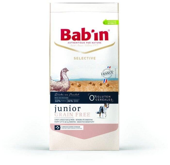 Корм для собак Bab'in Selective Junior Grain Free Poulet