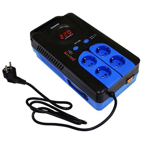 Стабилизатор напряжения однофазный SUNTEK PR-1000ВА черный/синий 0 pr на 100