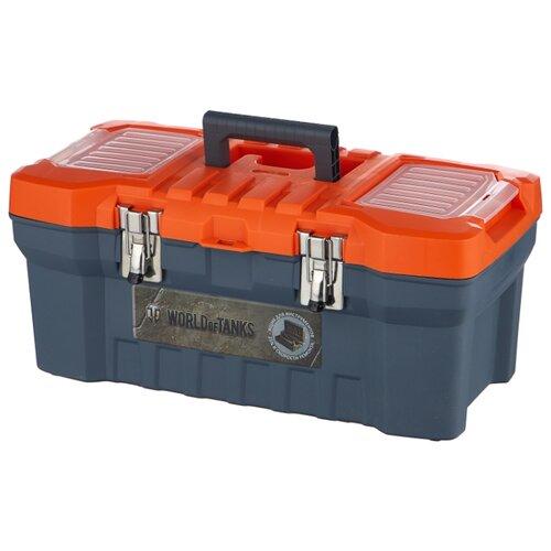 Ящик с органайзером BLOCKER World of Tanks BR5016 51x26x22 см 20'' серо-свинцовый/оранжевый ящик для инструментов blocker world of tanks br5016срсвцор 51 х 26 х 22 см