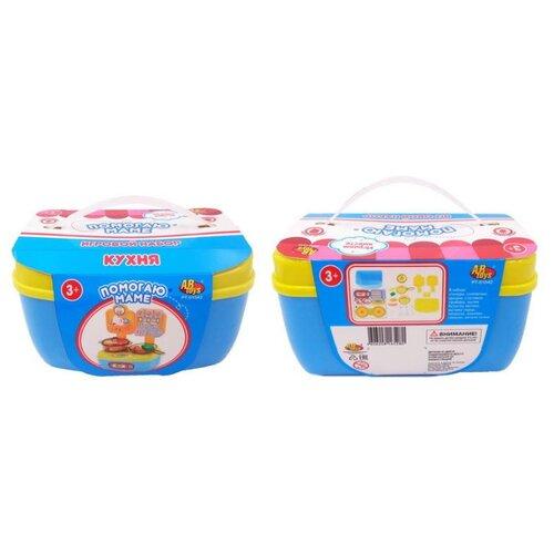 Купить Кухня ABtoys Помогаю Маме PT-01042 голубой/желтый, Детские кухни и бытовая техника