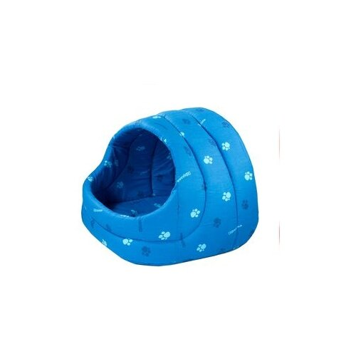 Домик для собак и кошек Дарэлл Лукошко 54х48х44 см синий