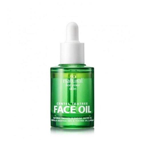 So'natural масло для проблемной кожи лица с центеллой и экстрактом чайного дерева Centel teatree face oil, 30 мл масло для проблемной кожи псораведика
