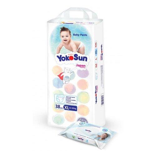 Фото - YokoSun трусики XL (12-20 кг) 38 шт. + салфетки 18 шт. yokosun трусики xl 12 20 кг 76 шт игрушка для ванной котик йоко