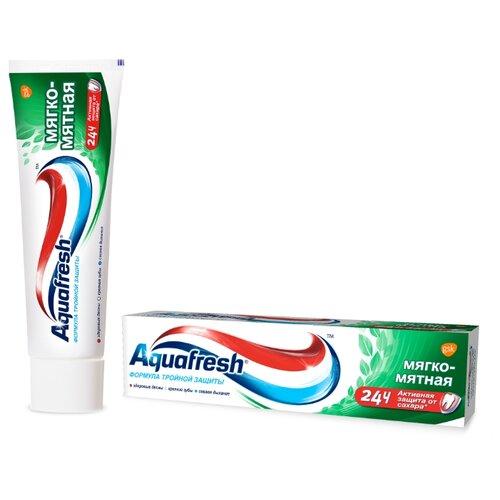 Купить Зубная паста Aquafresh Тройная защита Мягко-мятная, 50 мл