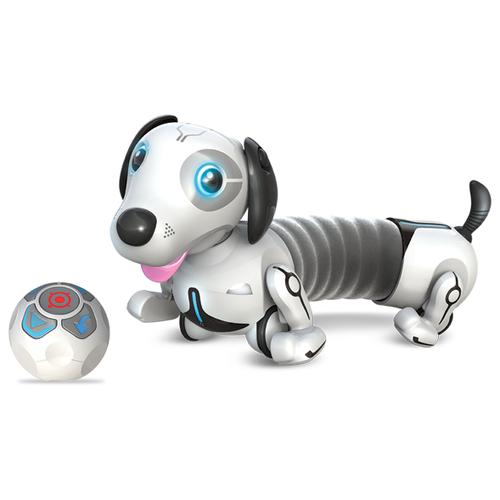 Интерактивная игрушка робот Silverlit YCOO n'Friends Собака Дэкел белый/серый интерактивная игрушка робот silverlit ycoo n friends собака руффи синий