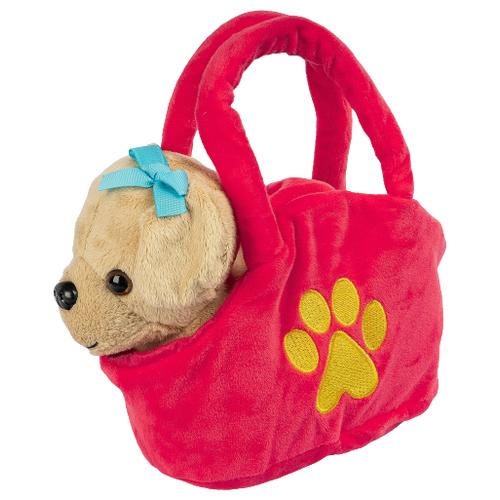 Мягкая игрушка Bondibon Собака светло-коричневая в сумочке 17 см