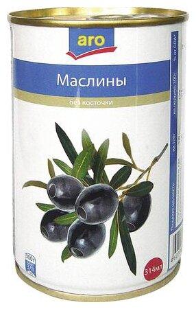 ARO Оливки черные с косточкой, 300 г